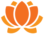 orange lotus flower symbol